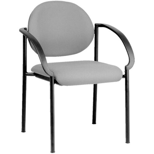Quick Ship NexStep 4-Legged Metal Stacking Arm Chair