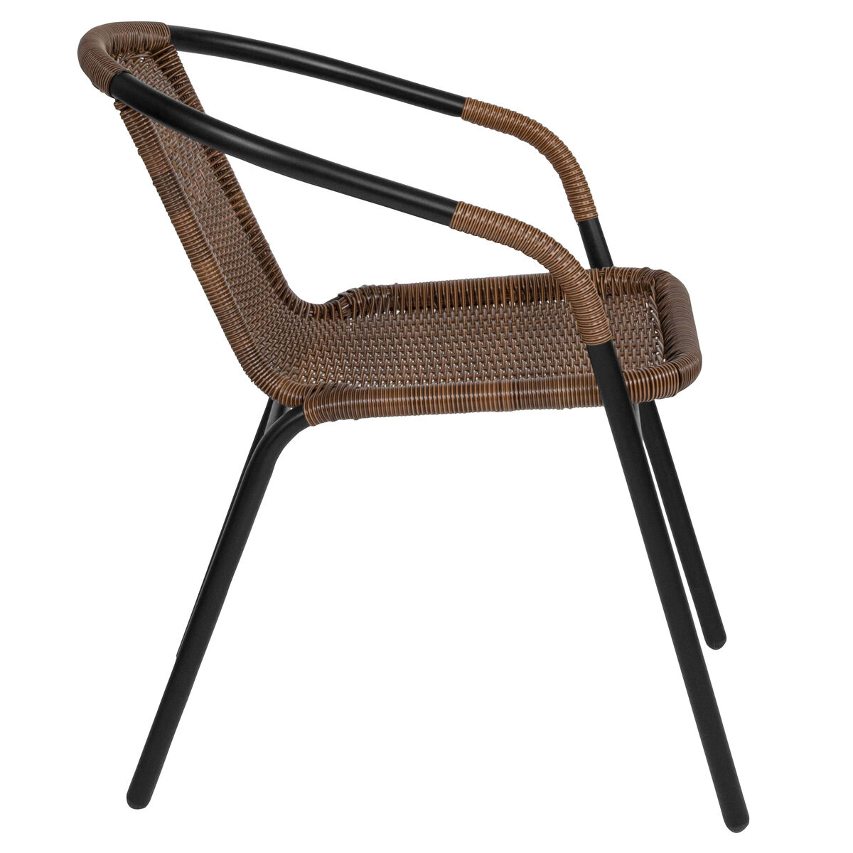 brown rattan stack chair tlh 037 dk bn gg stackchairs4less com