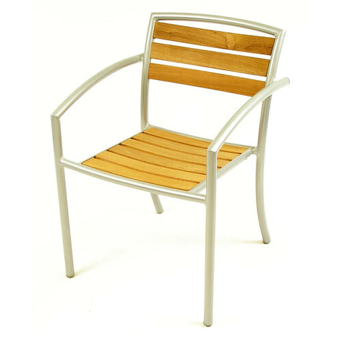 Our Curacao Indoor/ Outdoor Teak Stackable Arm Chair with Welded Aluminum Frame is on sale now.