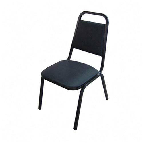 Our Lorell Black Vinyl Upholstered Stack Chairs - Set of 4 is on sale now.