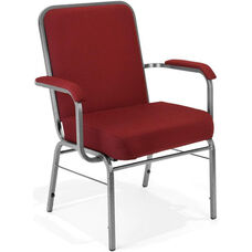 Comfort Class Big & Tall 500 lb. Capacity Stack Chair with Arms - Wine Fabric