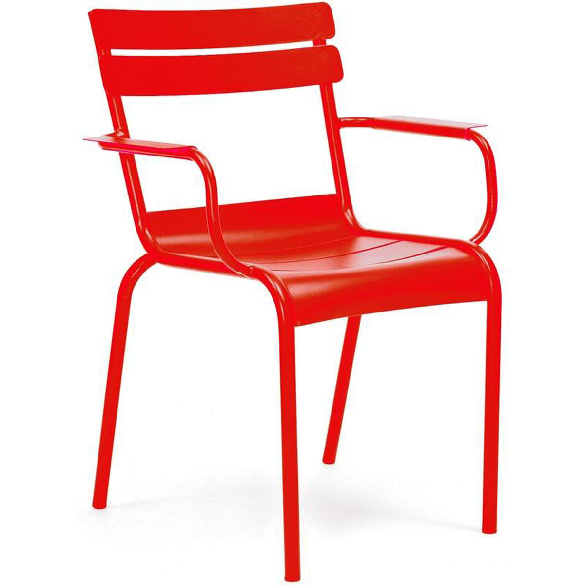 Design Lab Mn Chatou Red Stackable Metal Side Chair With