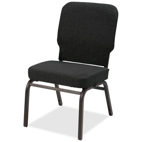 Our Lorell Black Fabric Oversize Stacking Chair with 500lb Capacity - Set of 2 is on sale now.
