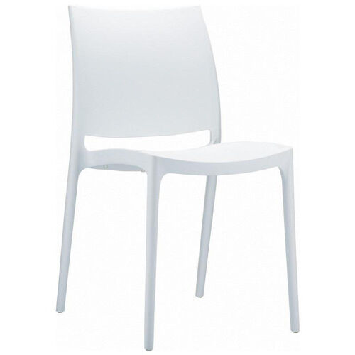 Our Maya Outdoor Polypropylene Stackable Dining Chair - White is on sale now.
