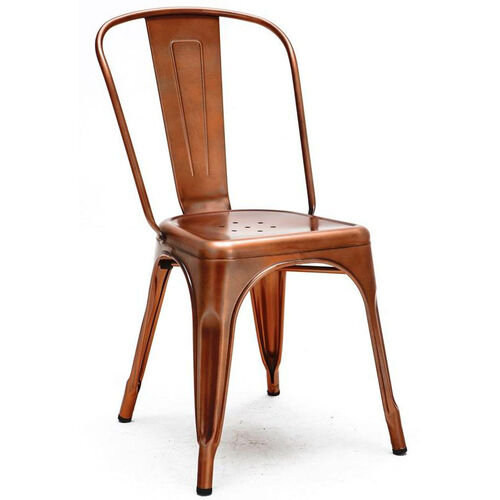 Our Dreux Stackable Vintage Copper Steel Side Chair - Set of 4 is on sale now.
