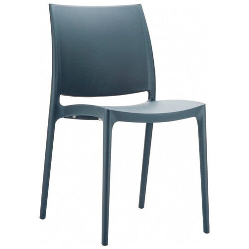 Our Maya Outdoor Polypropylene Stackable Dining Chair - Dark Gray is on sale now.