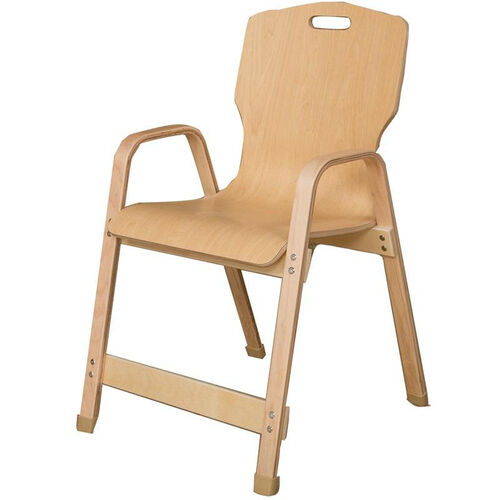Our Stacking Bentwood Plywood Kids Chair with Arms - 20.5