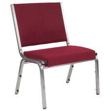 HERCULES Series 1500 lb. Rated Burgundy Antimicrobial Fabric Bariatric Chair with Silver Vein Frame