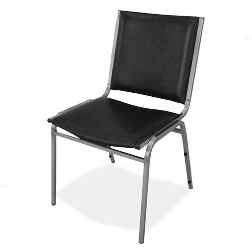 Our Lorell Padded Armless Stacking Chairs in Black - Set of 4 is on sale now.