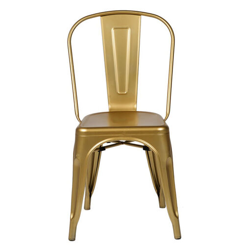 Our Oscar Steel Powder Coated Stackable Armless Chair - Gold is on sale now.