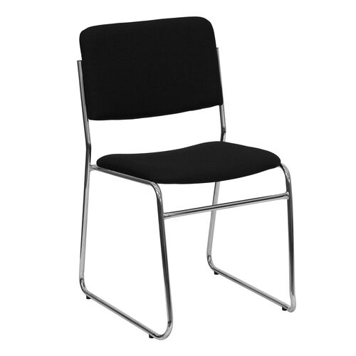 Our HERCULES Series 1000 lb. Capacity Black Fabric High Density Stacking Chair with Chrome Sled Base is on sale now.