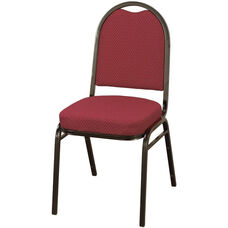 Quick Ship 500 Series Stacking Armless Hospitality Chair with Rounded Back and 2