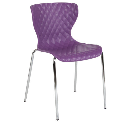 Our Lowell Contemporary Design Purple Plastic Stack Chair is on sale now.
