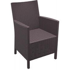 California Outdoor Wickerlook Resin Arm Chair - Brown