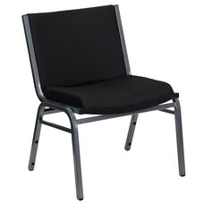 HERCULES Series Big & Tall 1000 lb. Rated Black Fabric Stack Chair
