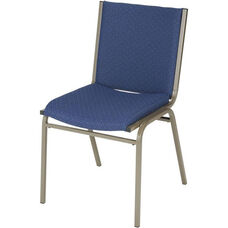 400 Series Stacking Square Steel Frame Armless Guest Chair with Full Back and 3