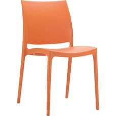 Martinique Lightweight Indoor/ Outdoor Stackable Side Chair - Orange