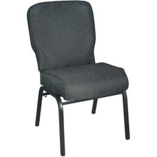 Advantage Signature Elite Patterned Black Church Chair - 20 in. Wide