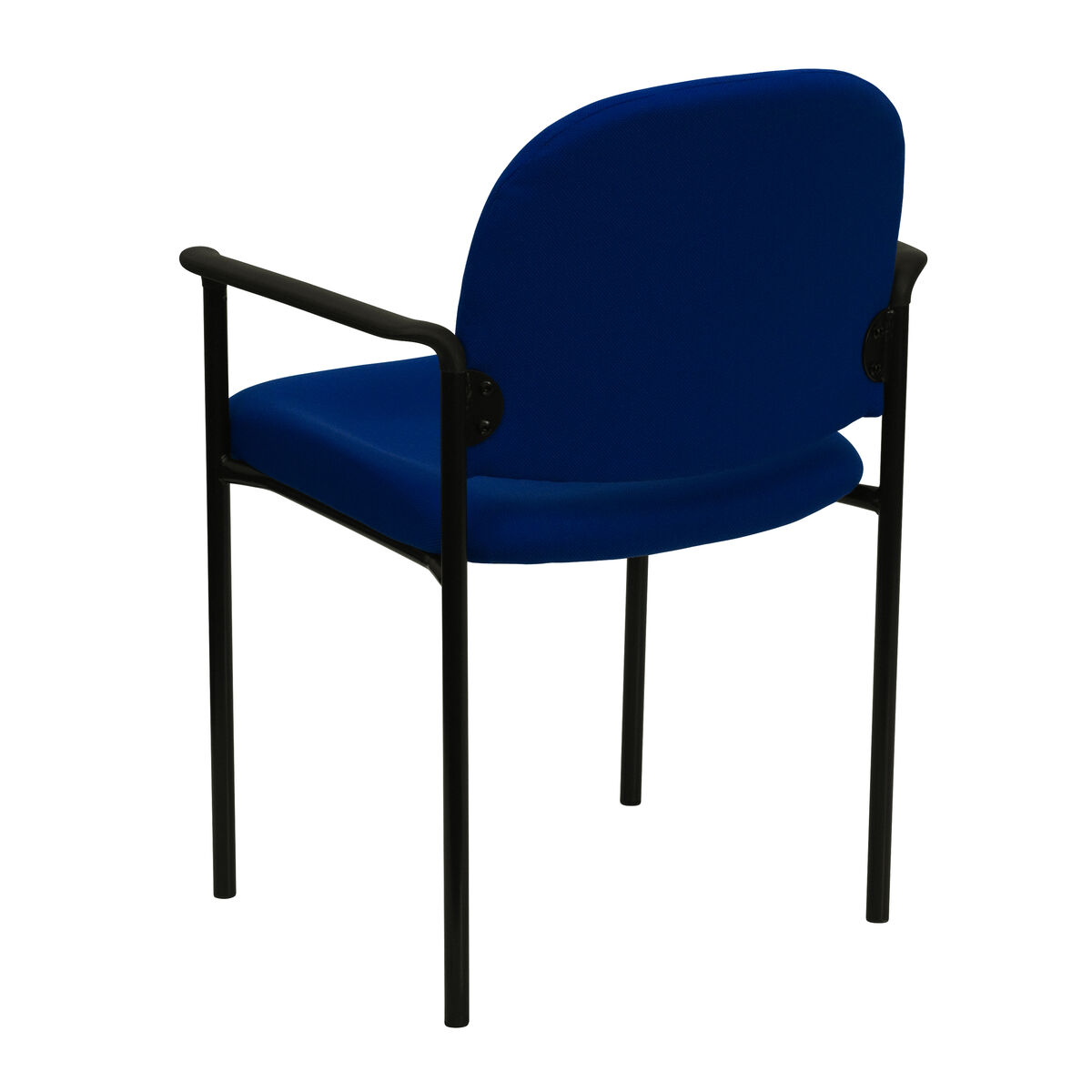 Flash furniture comfort navy fabric stackable steel side for Furniture 4 less