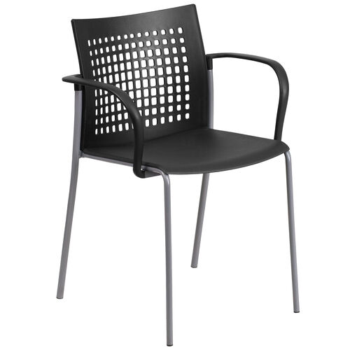Our HERCULES Series 551 lb. Capacity Black Stack Chair with Air-Vent Back and Arms is on sale now.