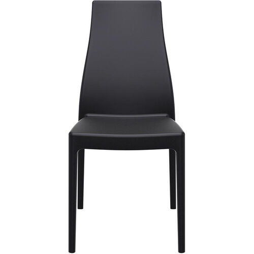 Miranda Outdoor Resin Stackable High Back Dining Chair