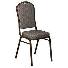 Crown Back Banquet Chair in Biltmore Ashley Fabric - Gold Vein Frame