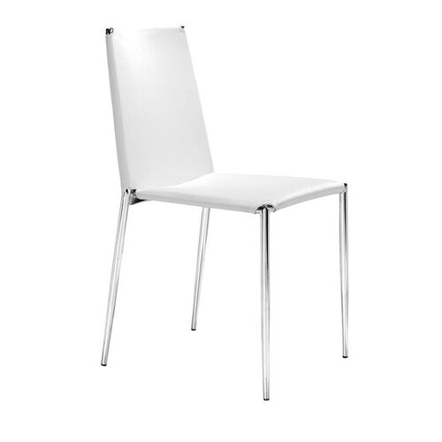 Our Alex Stacking Dining Chair in White is on sale now.
