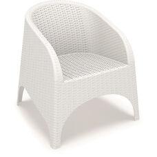 Aruba Wickerlook Resin Club Arm Chair - White