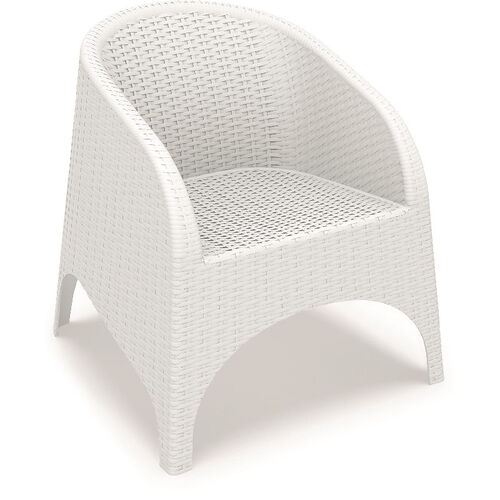 Our Aruba Wickerlook Resin Club Arm Chair - White is on sale now.