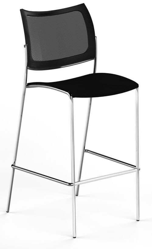 Our Bistro Escalate Stool with Mesh Back and Fabric Cushioned Seat - Set of 2 - Black is on sale now.