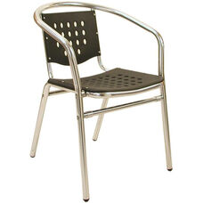 Palm Beach Collection Stackable Outdoor Arm Chair - Black