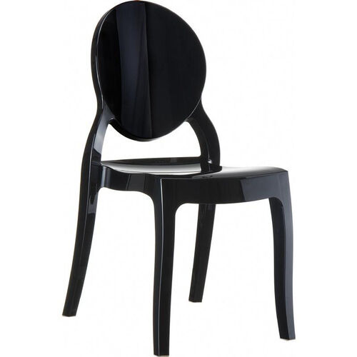 Elizabeth Polycarbonate Stackable Dining Chair with Oval Back