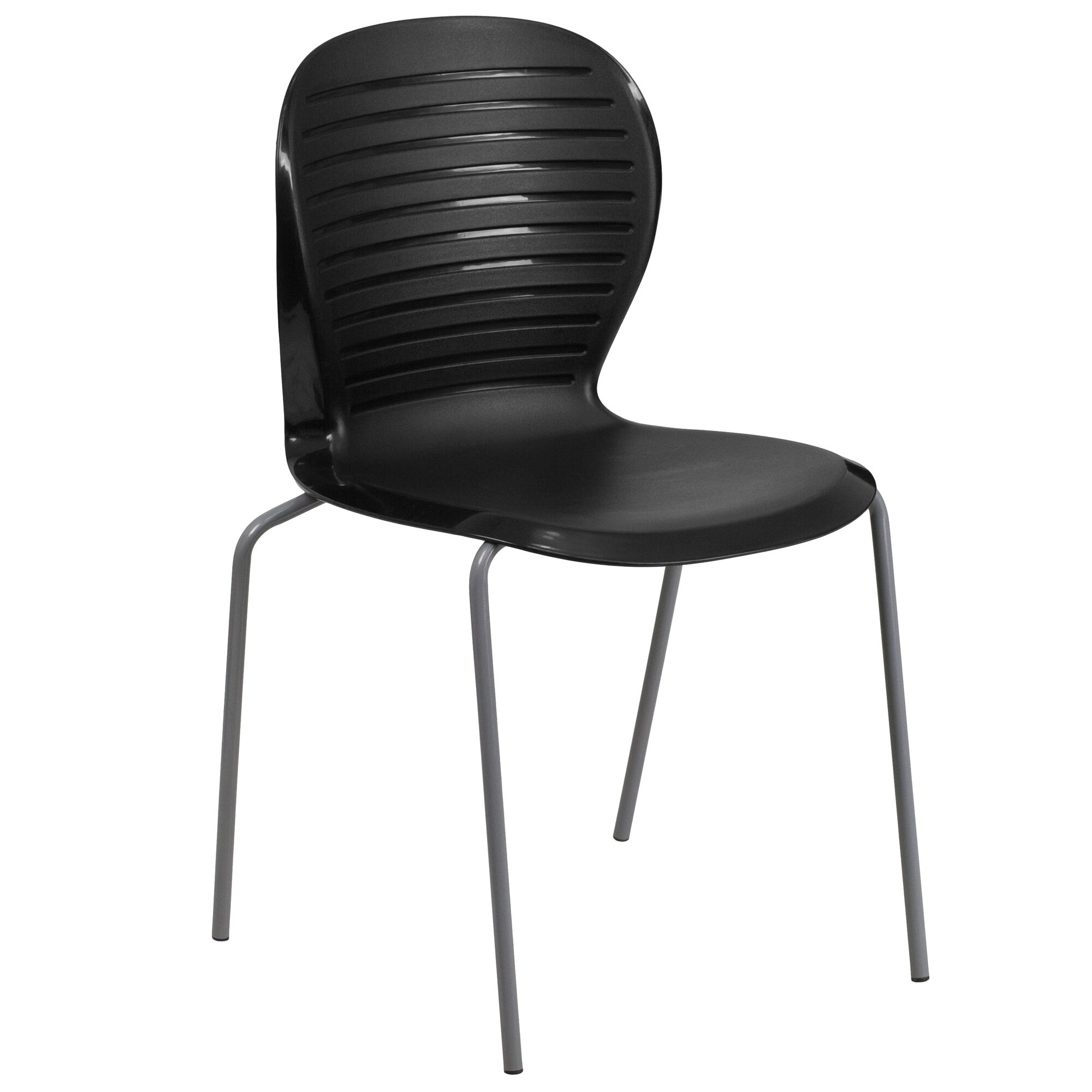 black plastic stack chair rut 3 bk gg. Black Bedroom Furniture Sets. Home Design Ideas