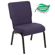 Advantage 20.5 in. Royal Purple Molded Foam Church Chair
