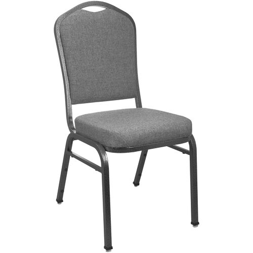 Our Advantage Premium Charcoal Gray Crown Back Banquet Chair is on sale now.