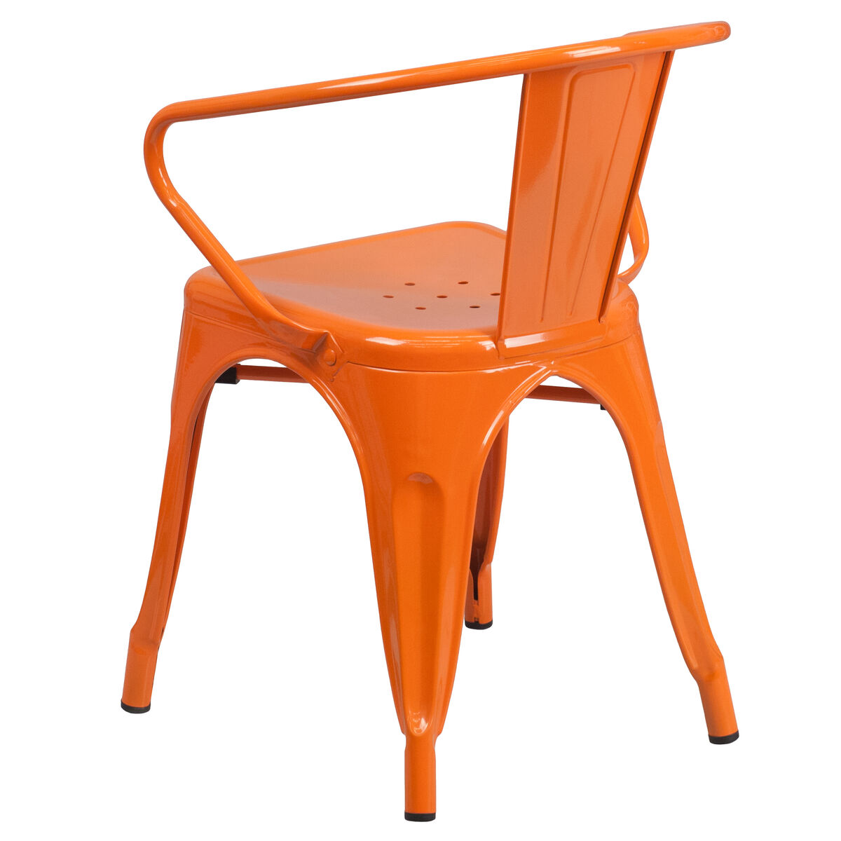 Our Orange Metal Indoor Outdoor Chair With Arms Is On Now