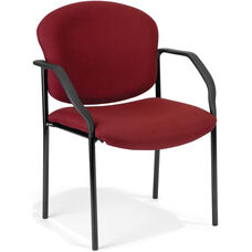 Manor Guest and Reception Fabric Chair with Arms - Wine