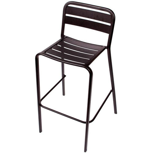 Our Vista Stackable Outdoor Aluminum Barstool - Black is on sale now.