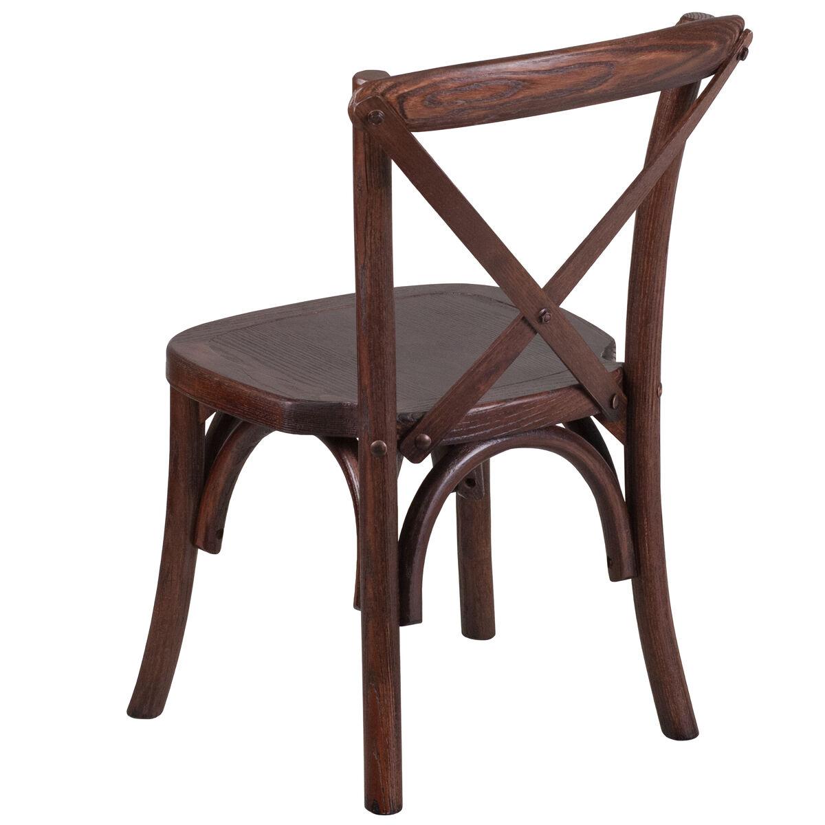 Flash furniture hercules series stackable kids mahogany for Furniture 4 less