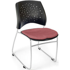 Stars Stack Chair - Coral Pink Seat Cushion