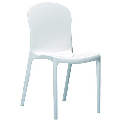 Victoria Modern Outdoor Polycarbonate Stackable Dining Chair