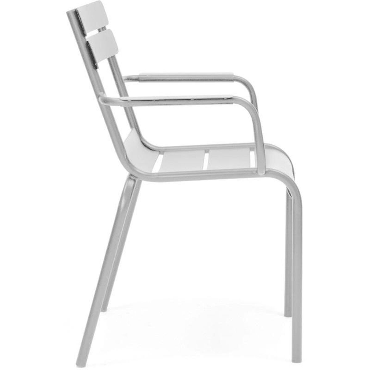 Design Lab Mn Chatou Grey Stackable Metal Side Chair With