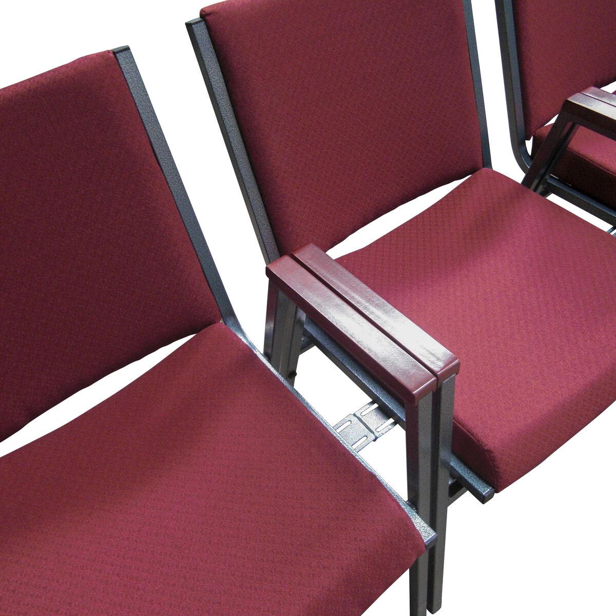 Burgundy Fabric Stack Chair XU BY GG