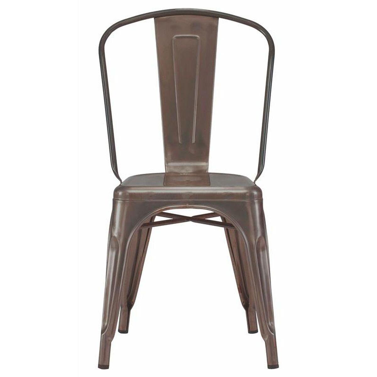 Design Lab Mn Dreux Stackable Rustic Matte Steel Side
