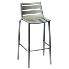South Beach Stackable Outdoor Barstool Titanium Silver