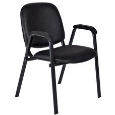 Ace 33''H Metal Frame Stackable Chair - Set of 18 - Black Vinyl