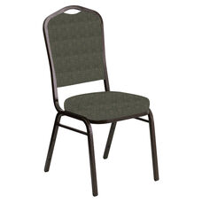 Crown Back Banquet Chair in Abbey Fern Fabric - Gold Vein Frame