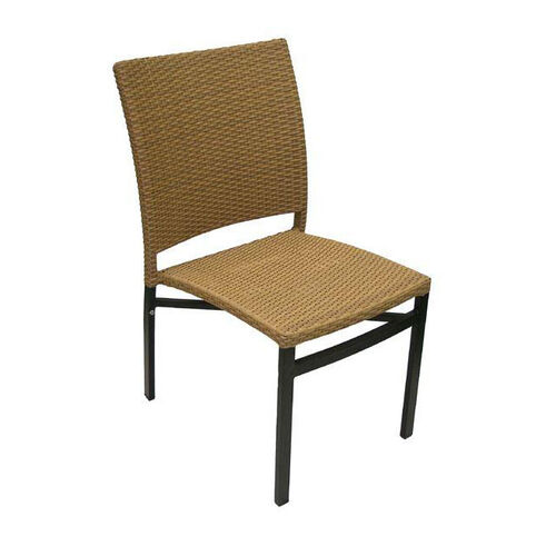 Oviedo Hand Polished Tubular Aluminum Stackable Side Chair