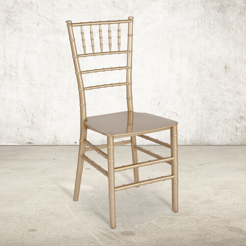 """HERCULES Series Gold Resin Stacking Chiavari Chair with <span style=""""color:#0000CD;"""">Free </span> Cushion"""