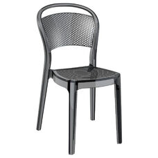 Bee Polycarbonate Stackable Dining Chair - Transparent Black